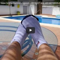 FILA Ankle Sox with View to the Swimmingpool