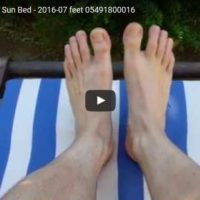 Relaxing Feet on the Sun Bed