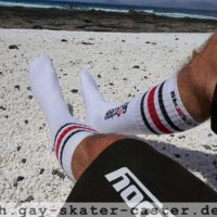 Gay Sk8erboy Tube Socks at the Beach